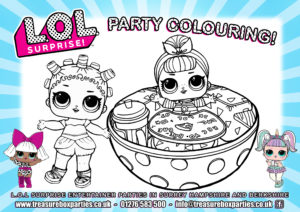 LOL dolls - Party Colouring 02
