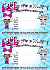 LOL dolls - Party Invitation