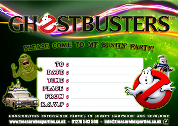 Ghostbusters Free Party Invitations And Activities