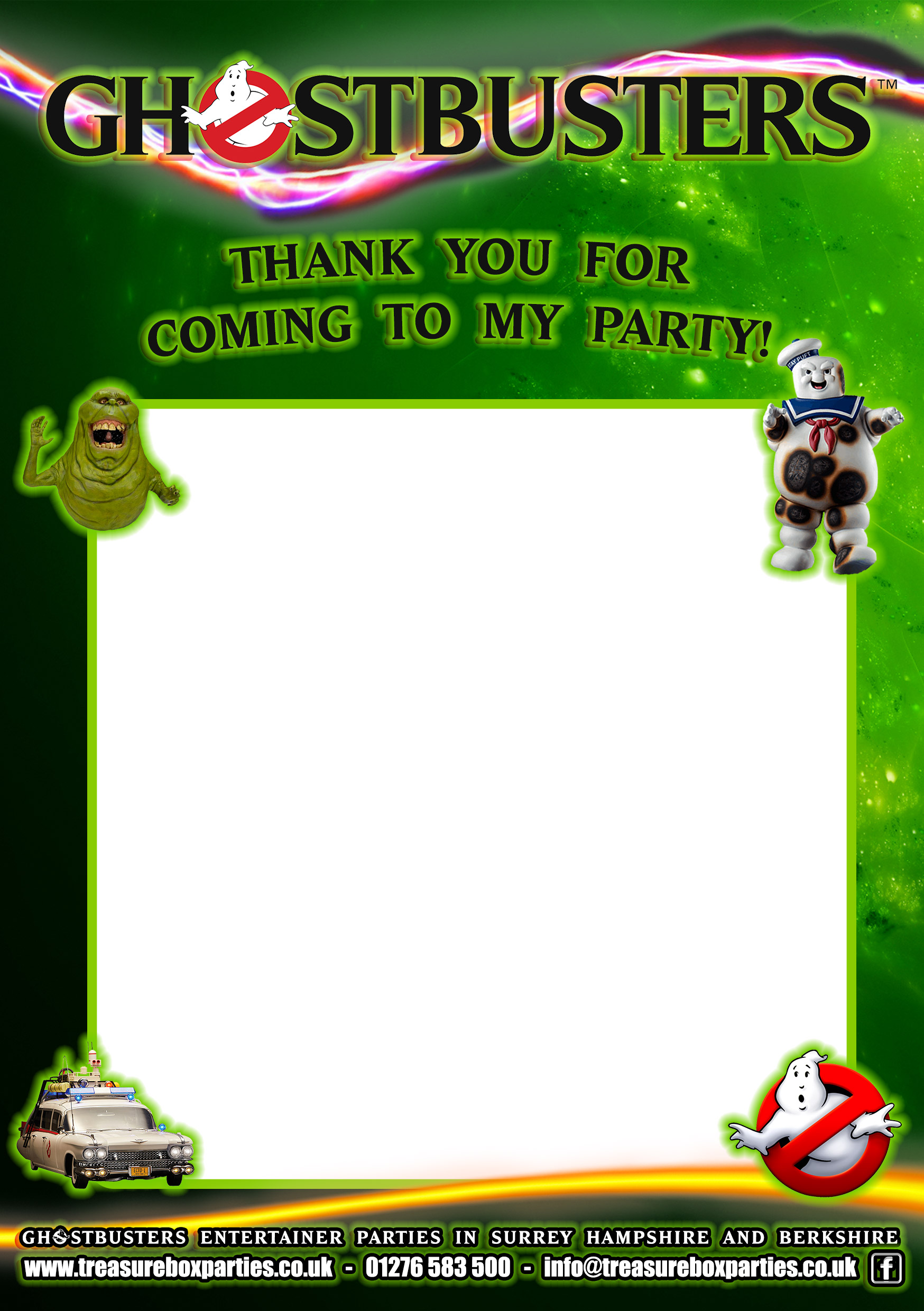 Ghostbusters Free Party Invitations And Activities Downloads Childrens Entertainer Parties Surrey Berkshire Hampshire Treasure Box Parties Supplies Kids Party Games Ideas