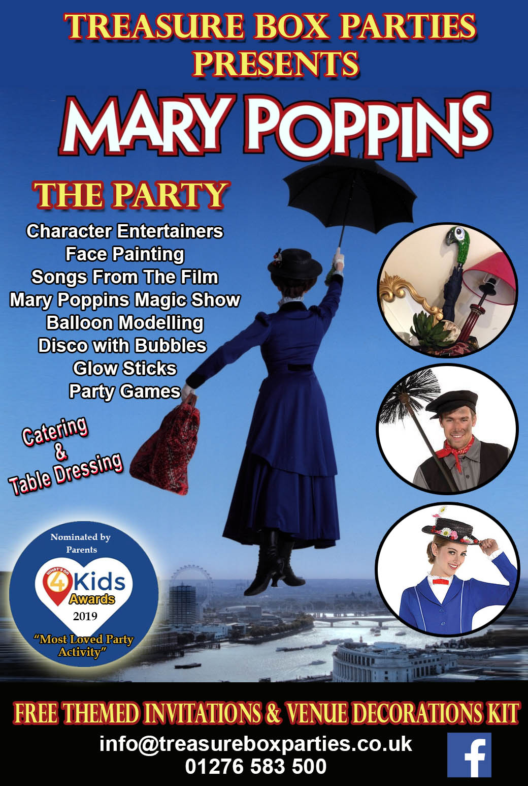 Mary Poppins Party With Free Mary Poppins Decorations Childrens